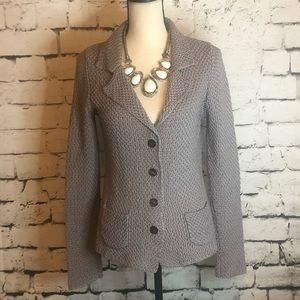 Boden Chunky Knit Collared Sweater